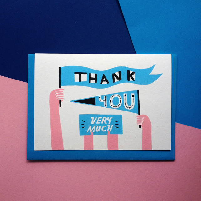 Illustrated Thank You Greetings Card