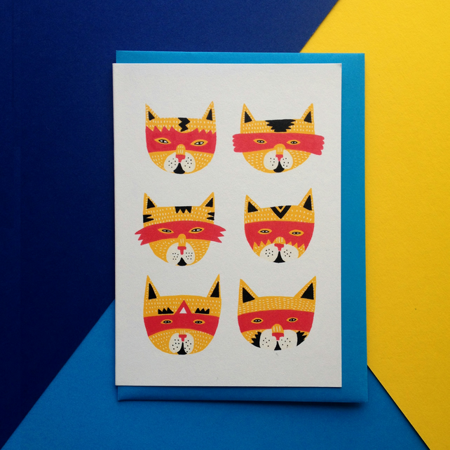 Super Cat Greeting Card