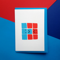 Valentine's card, Anniversay card, Wedding card - Tetris Greetings Card
