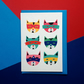 Colourful Super Cat Greetings Card