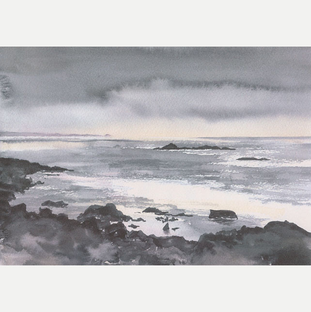 "A5 Greetings Card ""Into the West, Sanna Bay"""