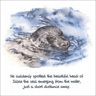 "Quotation Greetings Card ""Silvie the Seal"""