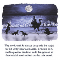 "Quotation Greetings Card ""Moonlight Ceilidh"""
