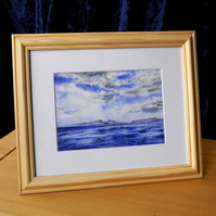 "Framed Giclée Print ""A Blue Day in May"" 12"" x 10"""