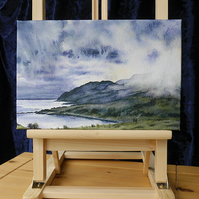 "Artist's Canvas Print ""Clouds Descend on Ben Hiant"" 12"" x 8"""