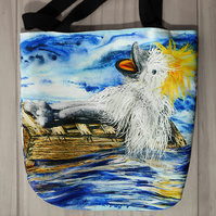 "Children's Tote Bag ""Algy on his Raft"""