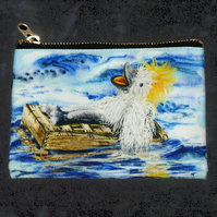 "Zipped Purse ""Algy on his Raft"""