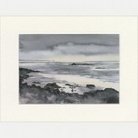 "Mounted Giclée Print ""Into the West, Sanna Bay"" 9"" x 7"""