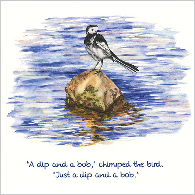 "Quotation Greetings Card ""Just a dip and a bob"""