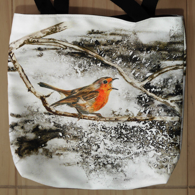 "Robin Tote Bag ""It's a gorgeous day for singing!"""
