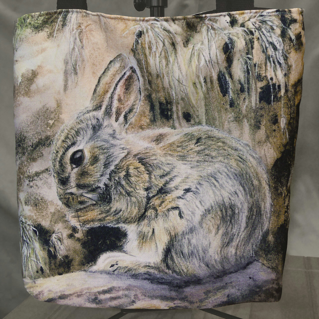"Bunny Tote Bag ""Young Floraidh"""