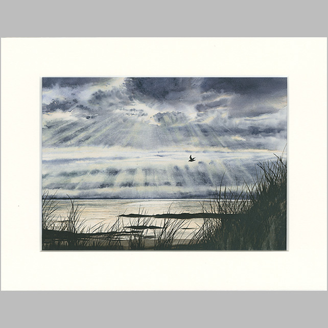 "Mounted Giclée Print ""Flying Home"" 9"" x 7"""