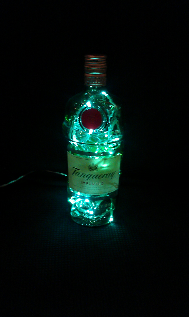 Upcycled Tanqueray London Dry Gin Bottle Lamp Folksy
