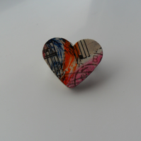 Small Heart Shaped Brooch