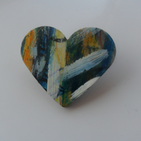 Large Heart Shaped Brooch