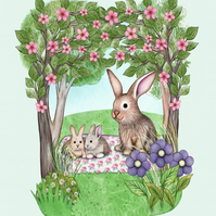 Three Little Bunnies Print