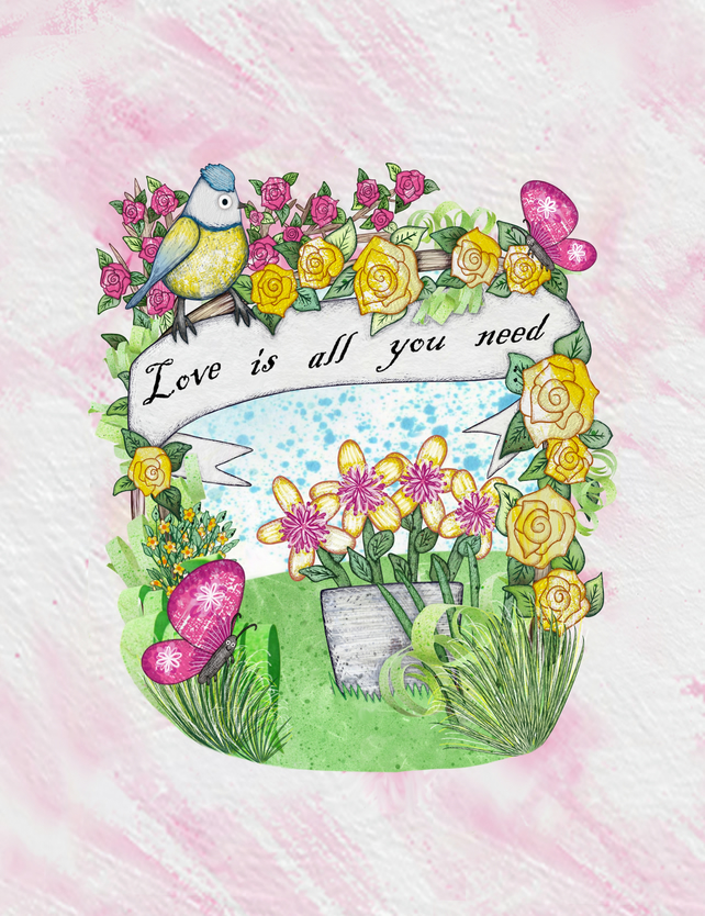 Love is all you need print