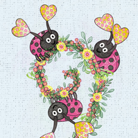 Three Ladybirds Print