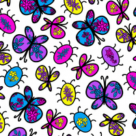 Butterfly and bug print