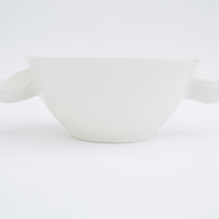White Ceramic Bowl with Toe