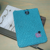 Kindle Case in Teal Cotton