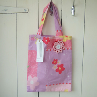 Pink Princess Girls Tote Bag