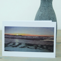 Art Greetings Cards, Seascape, Sunset