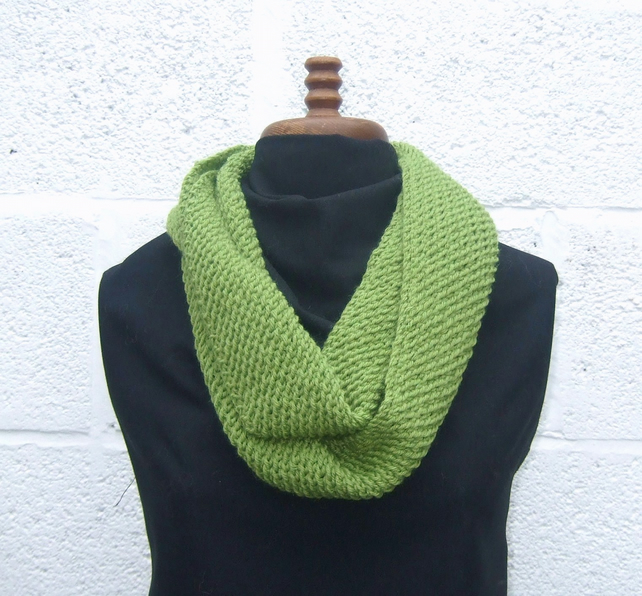 Cowl Infinity Scarf in Fern Green