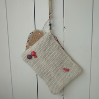 Cream Clutch Bag