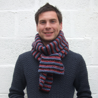 Men's Stripy Scarf , Valentine's Gift for Him