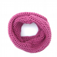 Pink Knitted Cowl Scarf - Mother's Day Gift