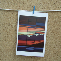 Colourful Abstract Sunset, Art Card