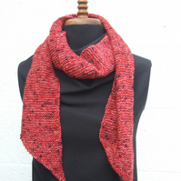 Tweed Hand Knit Scarf