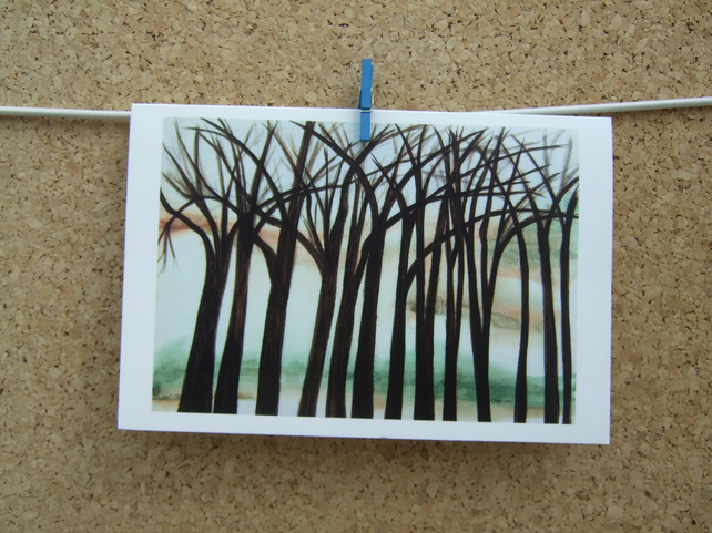 Art Greetings Card - Tangled Trees