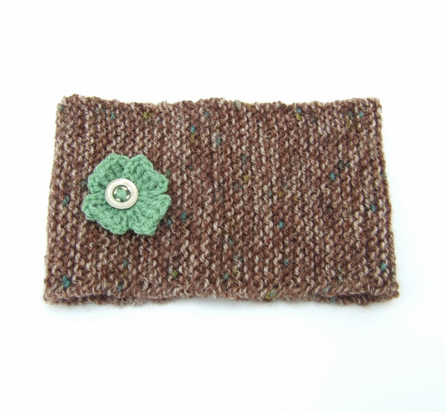 Girls Knitted Headband with Flower