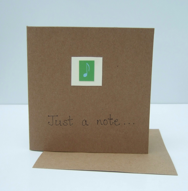 Notecard - Just a Note - Eco Friendly