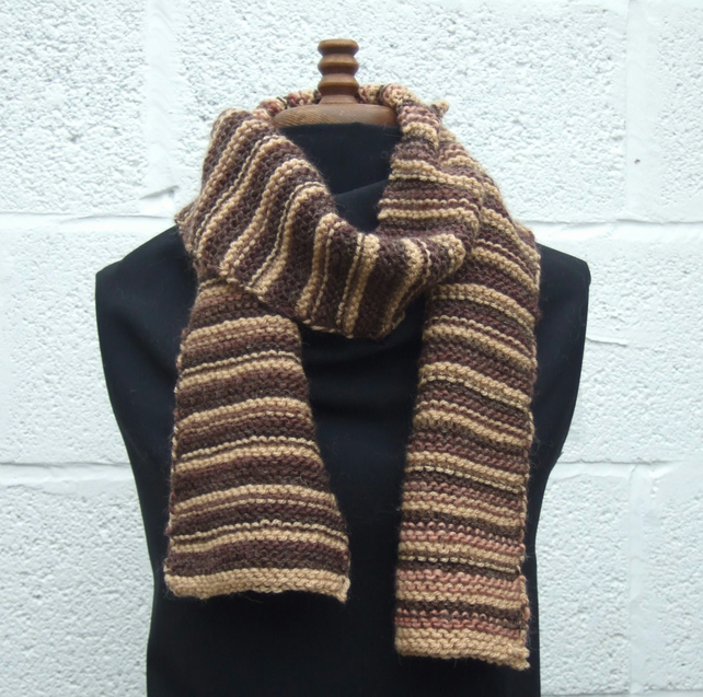 Brown Stripy Scarf