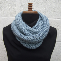 Cowl Scarf in Pale Blue