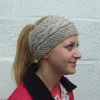 Knitted Headband Tweed Wool