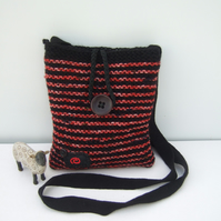 Cross Body Bag, Hand Knit