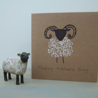 Father's Day Card - Hand Painted Ram