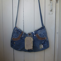 SALE Upcycled Shoulder Bag - Festival Bag