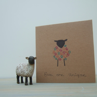 Ewe Are Unique, Colourful Sheep Cards, Personalised