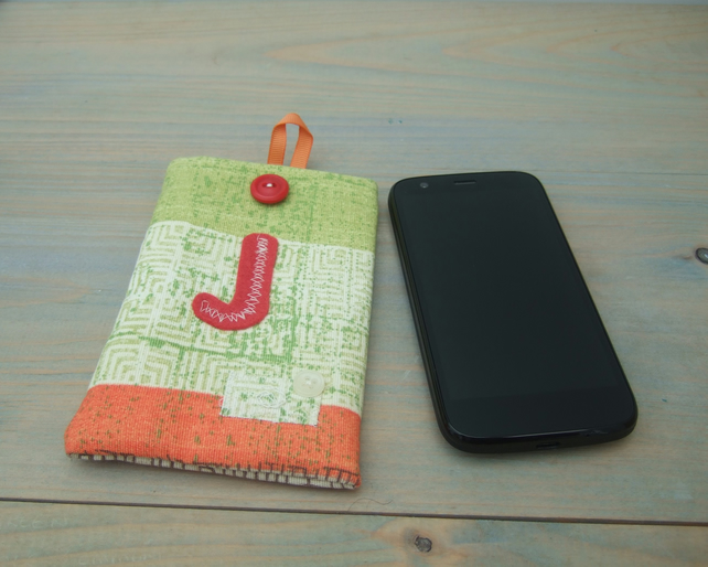 Personalised Android Phone Case or Glasses Case - J