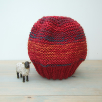 Colourful Knitted Beanie Hat