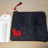 Denim Zipped Coin Purse