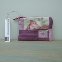 Purple Patchwork Make Up Bag