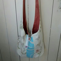 Floral Boho Bag, Summer Beach Bag, Festival Bag