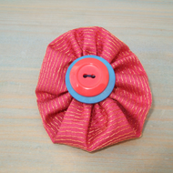Button Brooch, Up-cycled Textile Brooch