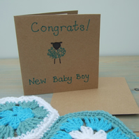 Baby Boy Card, Lamb